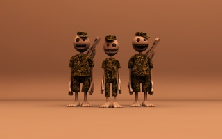 Funny 3D Soldiers