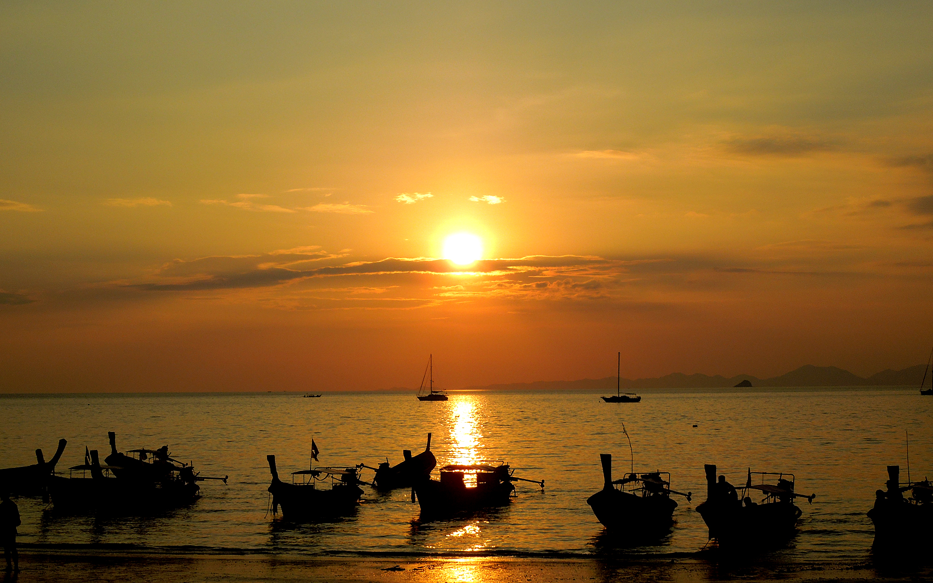 Thailand Rai Leh Beach Sunset